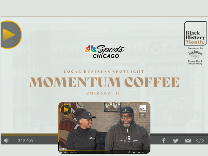 Making of Momentum Coffee Coworking Chicago TM – Feb 9, 2021 (Black History Month - NBC Chicago Spotlight)
